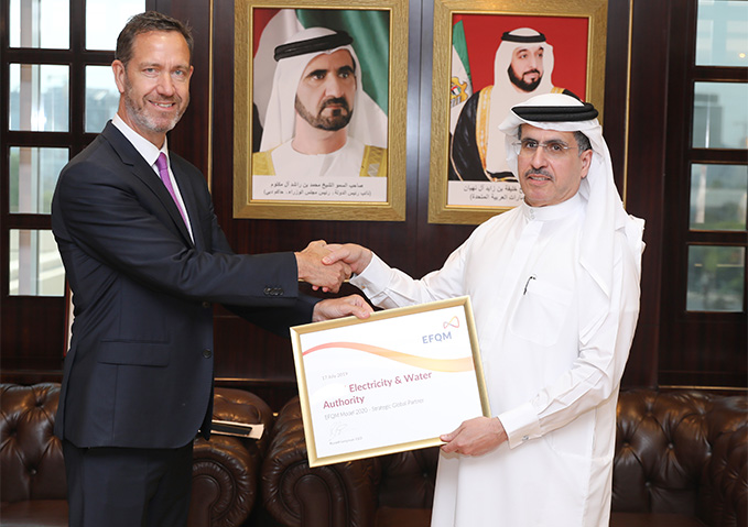 MD & CEO of DEWA receives First-Class Certificate of Honour and Appreciation from EFQM delegation