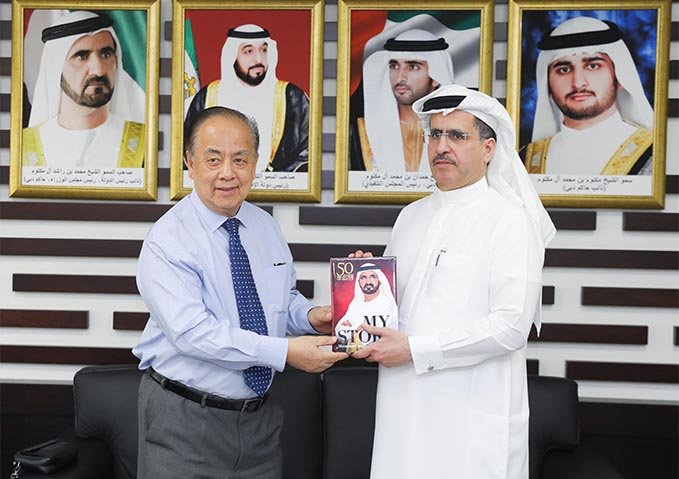 MD & CEO of DEWA receives  Minister of Energy, Manpower, and Industry of Brunei Darussalam